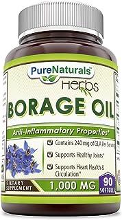 Pure Naturals Borage Oil 1000 Mg 90 Softgels