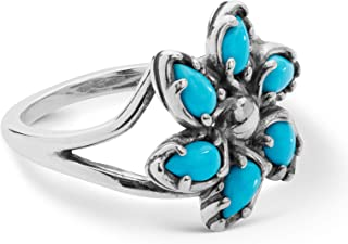 Carolyn Pollack Sterling Silver Sleeping Beauty Turquoise Sizes 5 Thru 10 Pinwheel Ring