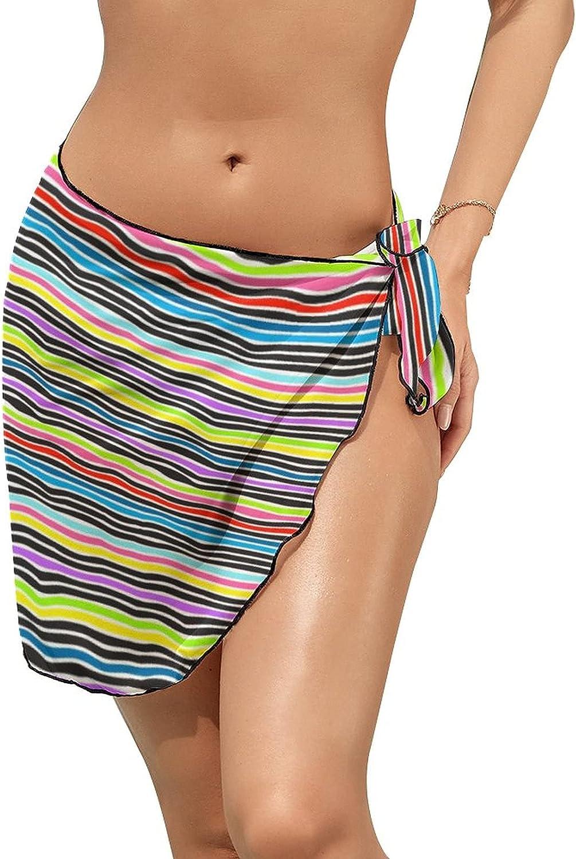 Women Tattoo Cover Ups Beach Wrap Skirt Resort Wear Sea Turtles Cheloniidae Vintage Pattern
