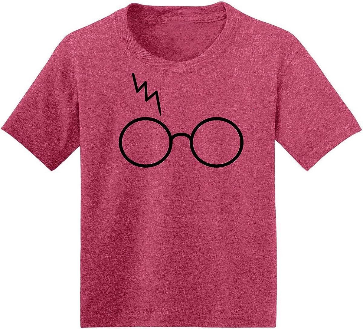 Wizard HP Glasses Scar Lightning | Boys Pop Culture Fan Graphic T-Shirt