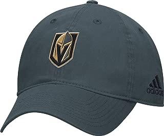 Adidas Men's Vegas Golden Knights Basic Gray Slouch Adjustable Hat (OneSizeFitsAll)