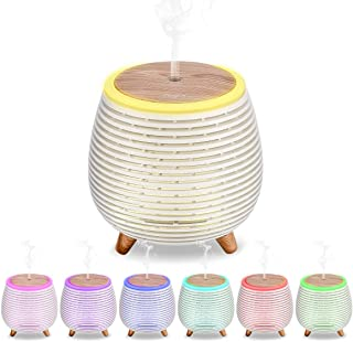 CkeyiN 100ml Essential Oil Diffuser Portable Aroma Essential Oil Cool Mist Humidifier with Adjustable Mist Mode, Waterless Auto Shut-off and 7 Color Changing LED Night Lights for Halloween Decor