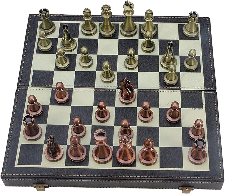 WERTYU Chess Set Premium Fold Leather 67% OFF of fixed price Retro Tournament San Antonio Mall
