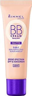 Rimmel Match Perfection BB Cream Foundation Matte, Light, 1 Fluid Ounce
