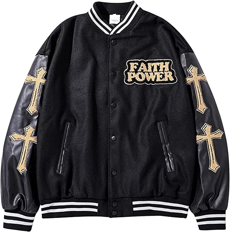 HSOSK Mens Jacket Jackets Men Jackets College Cargo Winter Parka Jacket Baseball Sports Jacket Sweat Jacket Unisex