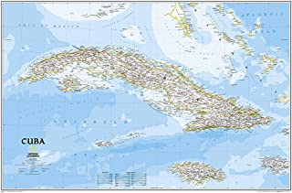 National Geographic: Cuba Classic Wall Map - Laminated (Poster Size: 36 x 24 inches) (National Geographic Reference Map)