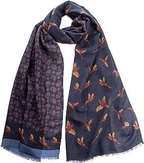 Elizabetta Men's Italian Wool Scarves - Soft & Lightweight - Patterned