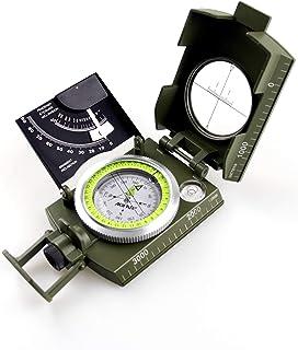 AOFAR AF-4074 Brújula Militar Visionado de Lentes Multifuncional, Fluorescente, Impermeable y a Prueba de Sacudidas con In...