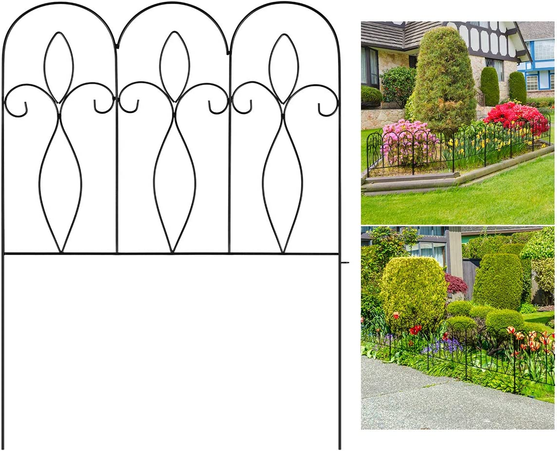 XCSOURCE 5Pcs Decorative Garden Fence 32in Free Shipping Cheap Bargain Direct sale of manufacturer Gift Metal F x 10ft Coated