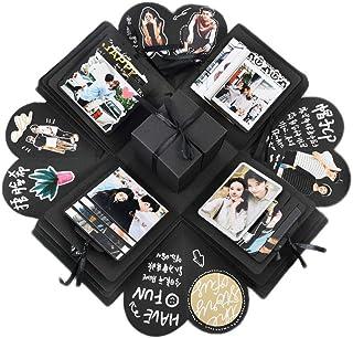 nuoshen Boîte surprise noire créative, boîte d'explosion DIY, cadeau pour anniversaire, Noël, fête des mères, Saint-Valent...