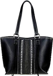 Montana West Large Leather Concealed Carry Purse Tote Bag For Women Western Cowgirl Handbag Studded Shoulder Bag