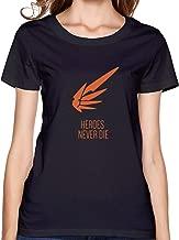 ATYPEMX Girls Mercy Overwatch Tee Shirts Black