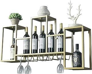 XHCP Organisation de Rangement de Cuisine Casier à vin Porte-Verre à vin Support Mural pour Bar en métal |Support de Rang...