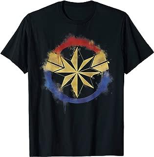 Marvel Avengers Endgame Captain Marvel Spray Paint Logo T-Shirt