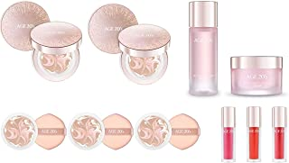 [AGE TWENTIES] Korean Cosmetic Age 20's Essence Cover Pact LX Compact Foundation Premium Makeup SET - 2 PACTS + 3 REFILLS + 1 ESSENCE + 1 CREAM + 1 LIP GLOSS (NO.21)