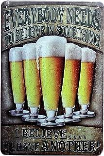 Doitsa 20x30cm Cartel de Chapa Placa Metal Cocina, Tin Sign Beer, Señal Signo de Pared Decorativas Bar Cerveza Señal de Advertencia