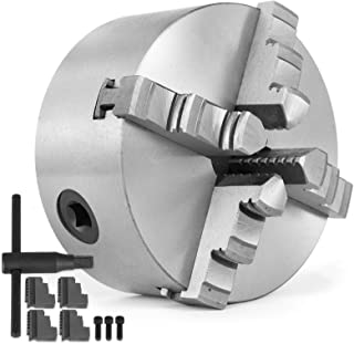 Mophorn 10 Inch 250 mm Lathe Chuck Independent Reversible Jaw for Lathe Machine 4 Jaw Lathe Chuck
