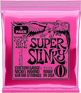مجموعه ای از زخم نیکل Super Slinky ، Ernie Ball ، .009 - .042 (3 بسته)