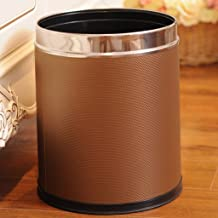 ZXJshyp Round Metal Small Trash Can Wastebasket Garbage Container Bin for Bathrooms Powder Rooms Kitchens Home Offices