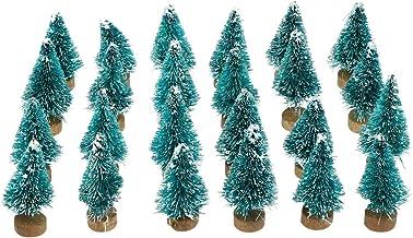Valicclud 24 peças mini decoração de árvore de Natal artigos de festa para decoração de casa