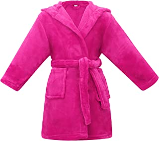 Image of Absorbent Water Melon Pink Hooded Bath Robe for Girls and Toddlers - See More Solid Colors