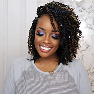 Toyotress Tiana Passion Twist Hair – 10 inch 8 Packs Pre-Twisted Passion Twists,..