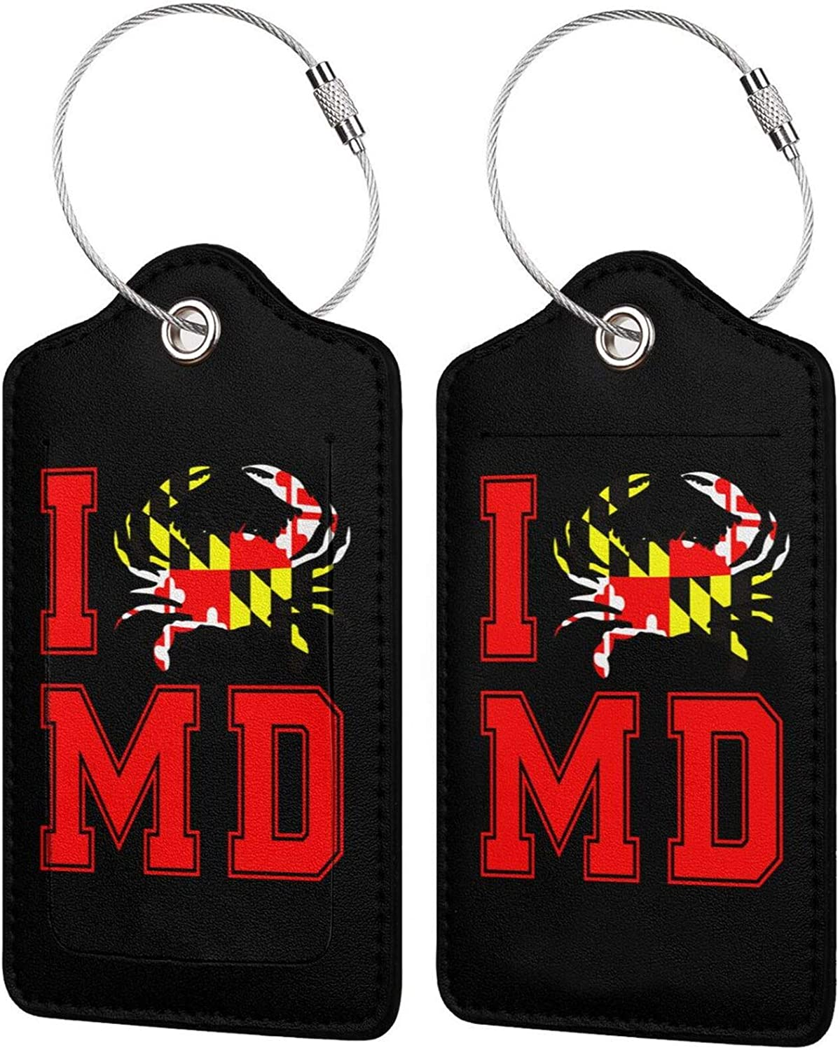Large discharge sale I Heart Blue Crab MD Gifts Maryland Travel Luggage Leather State PU
