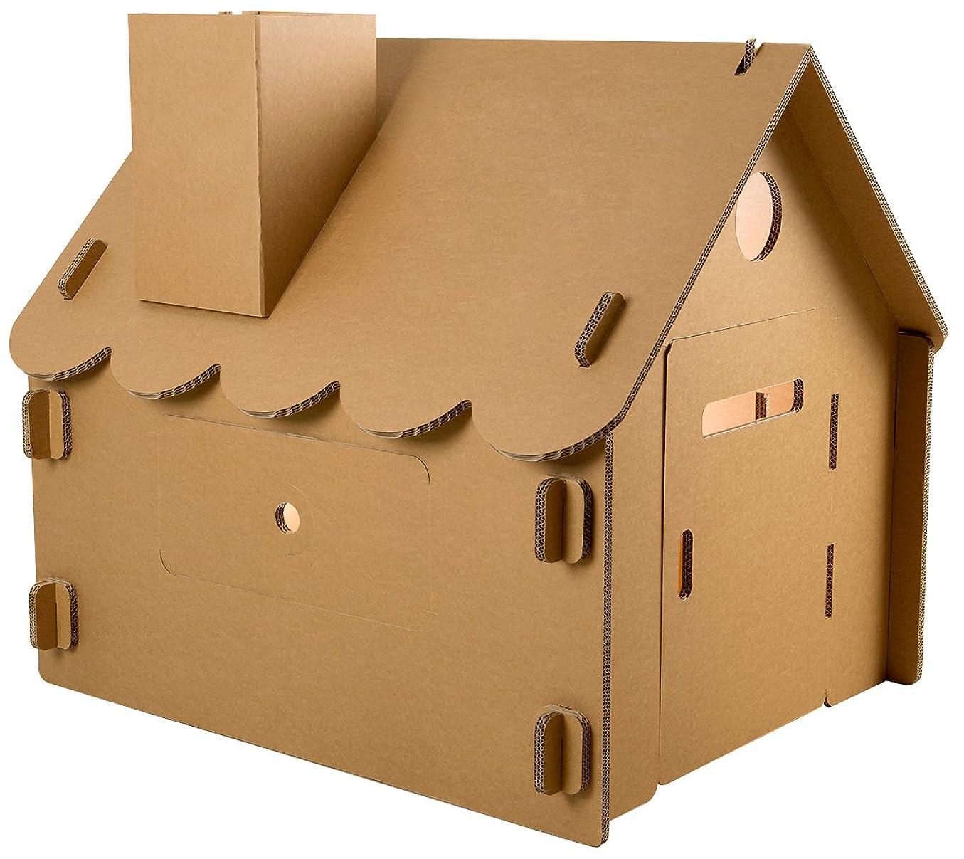 推測する完璧ガレージFunnyPaper(ファニーペーパー) Paper House-Basic Big 段ボールハウス 95.5×109.4×101.0cm CKPL_102