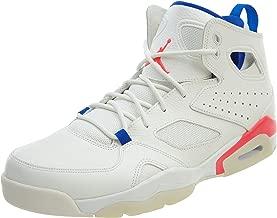 Jordan Mens Flight Club `91 Hight Top Lace Up Basketball Shoes, White, Size 8.5