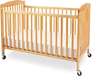 la baby full size folding wood crib