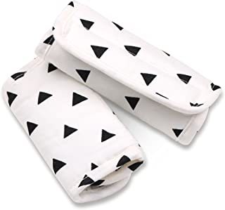 Black Triangle Car Seat and Stroller Strap Covers by The Peanut Shell