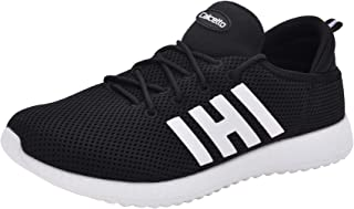 calcetto Mens Black Nylon Mesh Sport Shoes