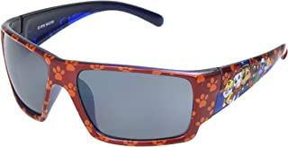 FGX International Unisex-Child N Paw 19 02 Red Com 10250366.COM Rectangular Sunglasses, Red Paw Print, 58 mm