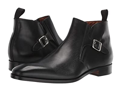 Massimo Matteo Boot with Buckle (Black) Men