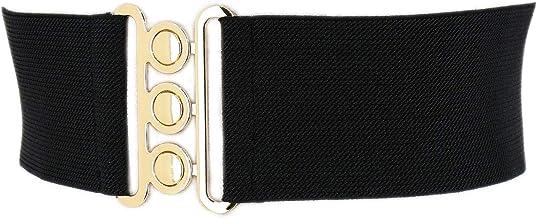 fatto in Francia GLORIA FASHIONGEN Cintura donna 7,50 cm larga e Elastica