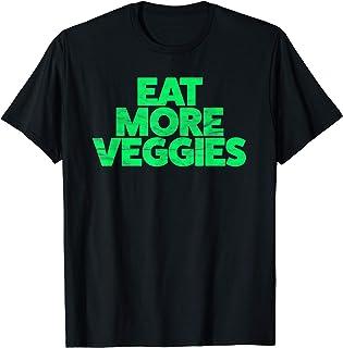 Retro Eat More Veggies Graphic T-Shirt