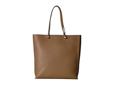 Furla Eden Large Tote N/S (Caramello/Onyx) Handbags
