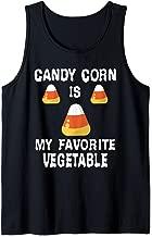 Candy Corn Is My Favorite Vegetable Vegan Halloween Costume Tank Top