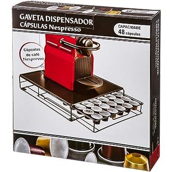 Home Gadgets Cajon Soporte Dispensador Organizador para 48 Capsulas Café Cafetera Nespresso, Krups etc: Amazon.es: Hogar