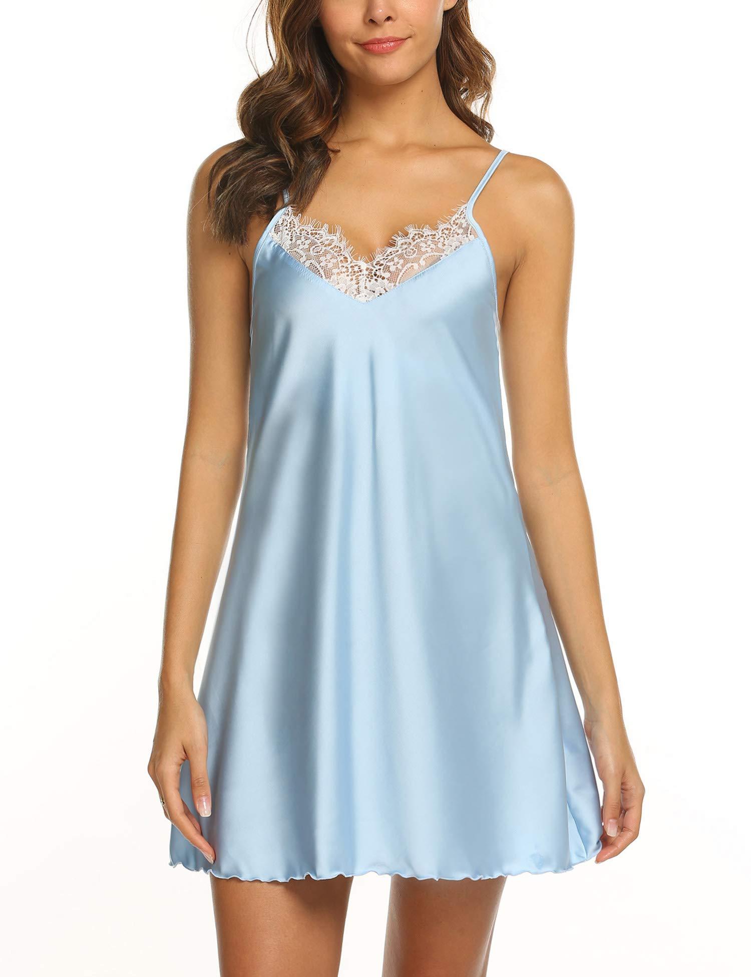 Ekouaer Nightgown Nightwear Lingerie Sleepdress