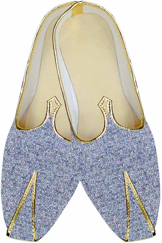 INMONARCH Mens Sky bluee Wedding shoes Partywear MJ015974