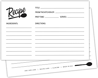 Best folded recipe cards Reviews
