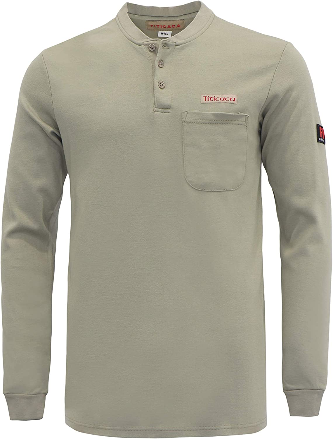 Titicaca Flame Resistant FR 7OZ 100% Cotton Henley Style Long Sleeve T-Shirts