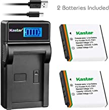 Kastar Battery (X2) & Slim LCD Charger for Kodak KLIC-7001 and Kodak EasyShare M320, M340, M341, M753 Zoom, M763, M853 Zoom, M863, M893 is, M1063, M1073 is, V550, V570, V610, V705, V750 Cameras