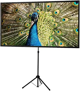 celexon 80inch Projector-Screen with Stand, Indoor Outdoor Portable Projection-Screen for Home Theater, 4K HD 16:9 Project...