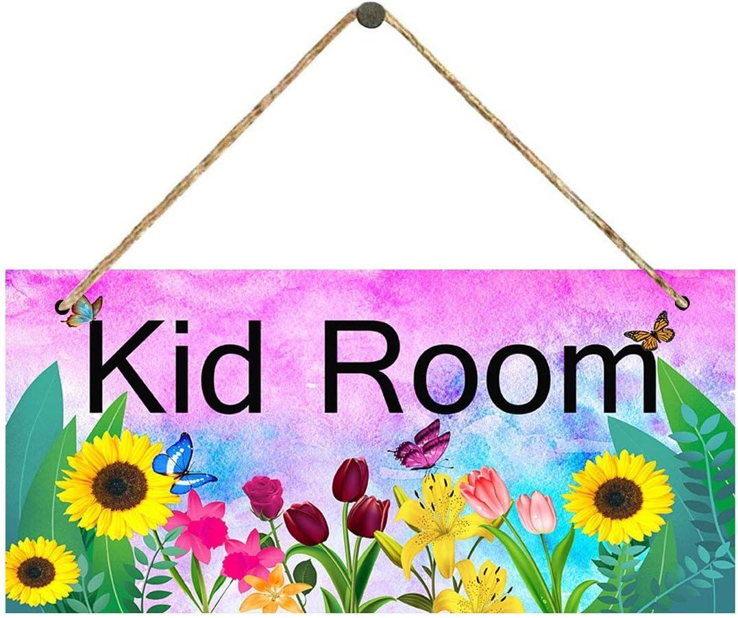 DOMASKDK Kid Room Some reservation Floral Wall Hanging Nashville-Davidson Mall Sign Girls for Bedroom Bab