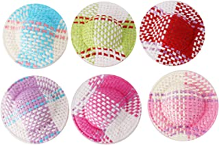 Mini Doll Straw Hats for Crafts Decorations, 12 pcs assorted