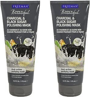 Freeman Facial Charcoal & Black Sugar Polish Mask 6 oz. - Set of 2