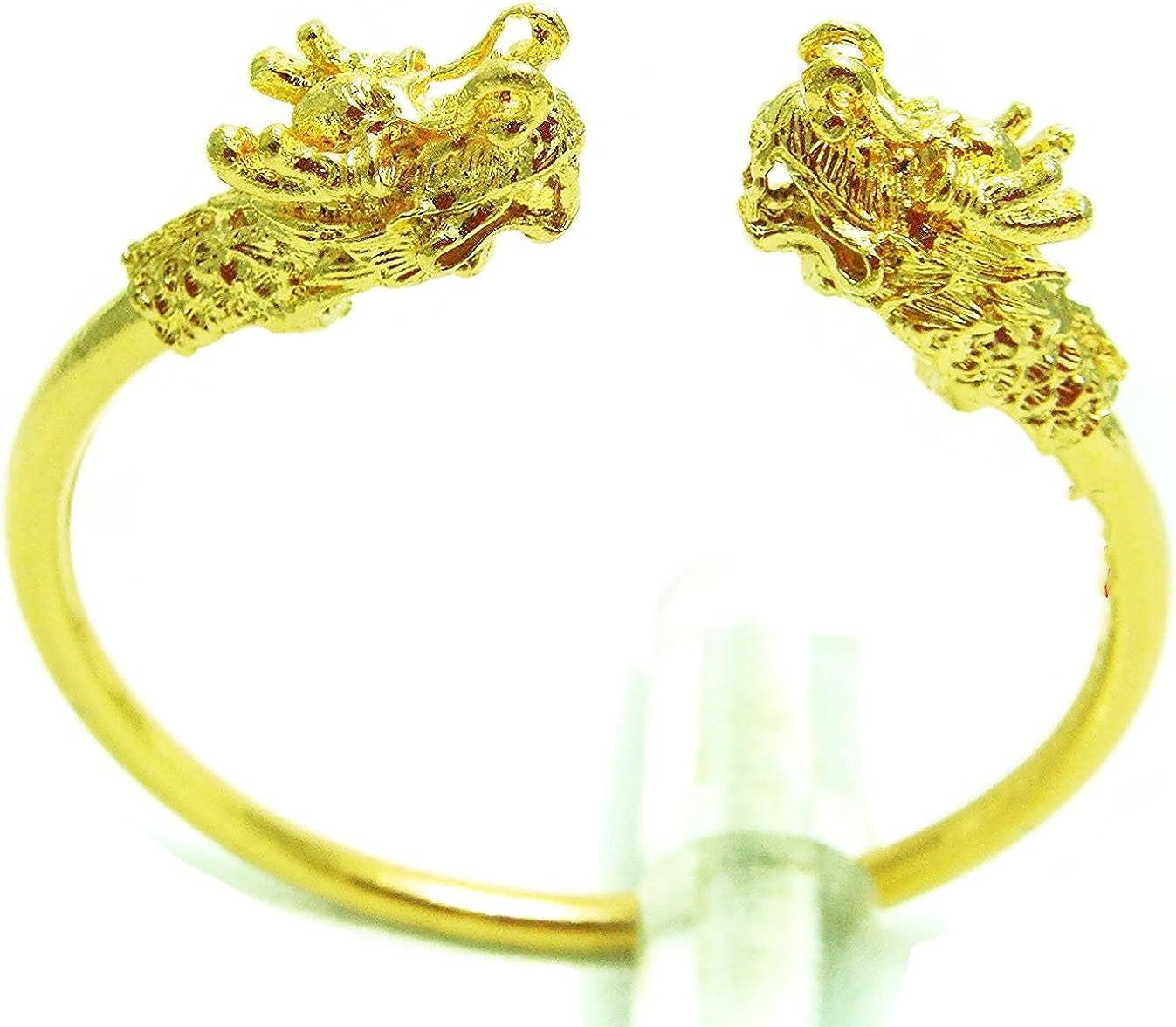 arrawana77 Dragon Bangle 22k 23k 24k Yellow Gold Plated Jewelry Bracelet Weight 49 Gram