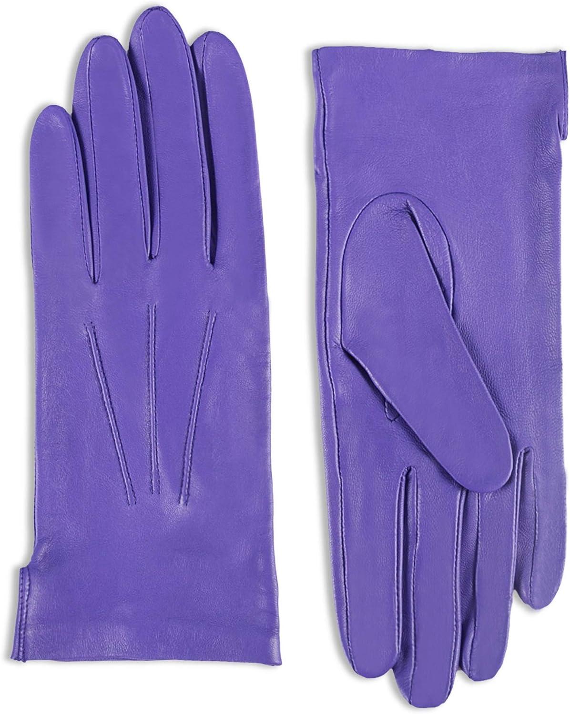 YISEVEN Women Unlined Leather Gloves Italian Lambskin